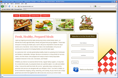 New Site Launch – Gina's Kitchen Table